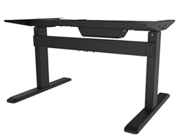 celexon Professional eAdjust-65120B Elektrisch höhenverstellbarer Schreibtisch in schwarz | Stufenlos höhenverstellbar von 65 bis 120 cm | 3 speicherbare Positionen | Einfache Bedienung über Bedienpanel | modischer Schreibtisch für das Büro und Home-Office -