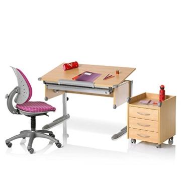 Kettler Kinderschreibtisch College Box – Farbe: holzfarben (Buche) und silber – hochwertiger Schülerschreibtisch MADE IN GERMANY – flexible Höhenverstellung – Artikelnummer: 06604-4272 -