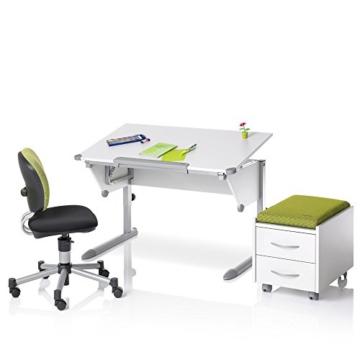 Kettler Kinderschreibtisch Cool Top I - Farbe: weiß und silber - Schülerschreibtisch MADE IN GERMANY - hochwertiger Schreibtisch Kinder - flexibel einstellbar – Artikelnummer: 06622-270 -