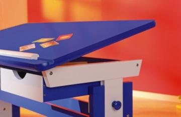 Link's Schülerschreibtisch Links 40100600 Kinderschreibtisch Schülerschreibtisch Schreibtisch Kind blau verstellbar NEU -