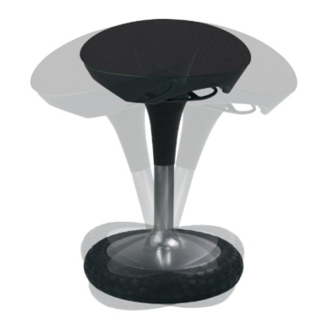 Topstar SI69G20 Sitzhocker Sitness, 20, schwarz -