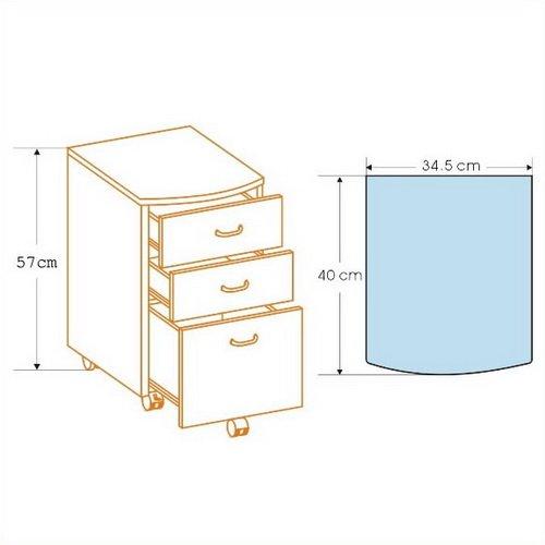 Rollkontainer hjh office 673800 - hjh OFFICE 673800 Rollcontainer EKON graphit, inkl. 3 Schübe, grundsolide Verarbeitung, optimal für Schreibtisch, Büromöbel, Schreibtisch Container, Rollkontainer Büro, Rollkontainer mit Schubladen -