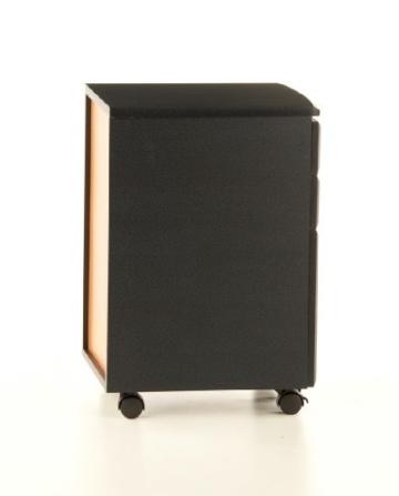 hjh OFFICE 673800 Rollcontainer EKON graphit, inkl. 3 Schübe, grundsolide Verarbeitung, optimal für Schreibtisch, Büromöbel, Schreibtisch Container, Rollkontainer Büro, Rollkontainer mit Schubladen -