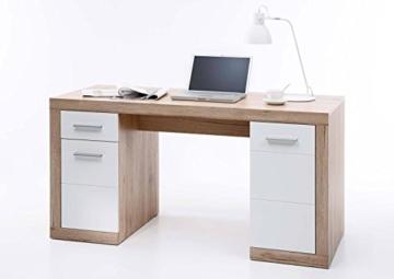 Komplettes Arbeitszimmer in San Remo Eiche / Weiß - Büromöbel Komplett Set Modell 2016 -