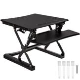 TecTake Sitz- Steh- Schreibtischaufsatz   höhenverstellbar   ergonomisch   68x80x50 cm   Schwarz -