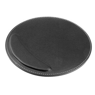 BXT® 3D Ergonomische PU-Leder Mauspad und Schwamm-Handgelenkauflage Komfortauflage Kreisförmig Mousepad Rutschfeste Unterseite Anti-Staub einfach zu reinigen - 2
