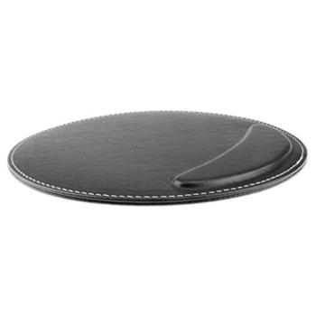 BXT® 3D Ergonomische PU-Leder Mauspad und Schwamm-Handgelenkauflage Komfortauflage Kreisförmig Mousepad Rutschfeste Unterseite Anti-Staub einfach zu reinigen - 3