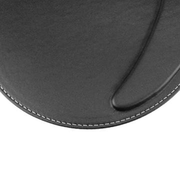 BXT® 3D Ergonomische PU-Leder Mauspad und Schwamm-Handgelenkauflage Komfortauflage Kreisförmig Mousepad Rutschfeste Unterseite Anti-Staub einfach zu reinigen - 4