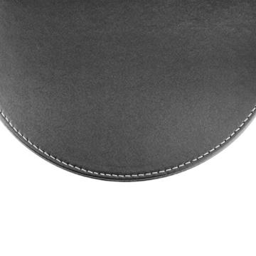 BXT® 3D Ergonomische PU-Leder Mauspad und Schwamm-Handgelenkauflage Komfortauflage Kreisförmig Mousepad Rutschfeste Unterseite Anti-Staub einfach zu reinigen - 6