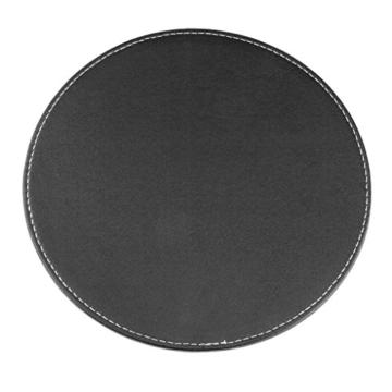 BXT® 3D Ergonomische PU-Leder Mauspad und Schwamm-Handgelenkauflage Komfortauflage Kreisförmig Mousepad Rutschfeste Unterseite Anti-Staub einfach zu reinigen - 7
