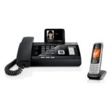 Gigaset DL500A + C430HX Telefon Kombi - Telefon / Schnurlostelefon - mit Farbdisplay - Freisprechfunktion - Anrufbeantworter / Dect Telefon - platin / schwarz - 1