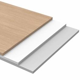 Schreibtischplatte 180 x 80 boho möbelwerkstatt Do IT Yourself Tischplatte Holzplatte Schreibtischplatte 180 x 80 x 2.5 cm in Weiß (RAL9010) mit Hoher Kratzfestigkeit und 120 kg Belastbarkeit - 1