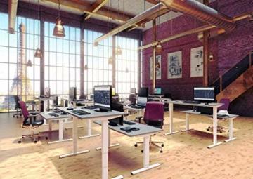 eLift Pro - Professionelles Tischgestell elektrisch - 100% Made IN Baden-WÜRTTEMBERG - Stufenlos höhenverstellbar - Soft Start/Stop - 140-200cm Breite. Bosch Motoren. 3 Jahre Garantie (Grau) - 2