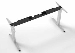 eLift Pro - Professionelles Tischgestell elektrisch - 100% Made IN Baden-WÜRTTEMBERG - Stufenlos höhenverstellbar - Soft Start/Stop - 140-200cm Breite. Bosch Motoren. 3 Jahre Garantie (Grau) - 1