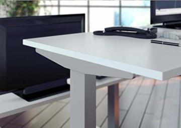 eLift Pro - Professionelles Tischgestell elektrisch - 100% Made IN Baden-WÜRTTEMBERG - Stufenlos höhenverstellbar - Soft Start/Stop - 140-200cm Breite. Bosch Motoren. 3 Jahre Garantie (Grau) - 5