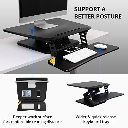 FLEXISPOT F3W Höhenverstellbarer Schreibtisch Sitz-Steh-Schreibtisch Steharbeitsplatz Computertisch Weiß - 3