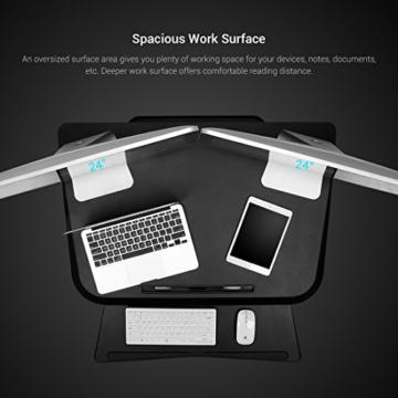 FLEXISPOT F3W Höhenverstellbarer Schreibtisch Sitz-Steh-Schreibtisch Steharbeitsplatz Computertisch Weiß - 4