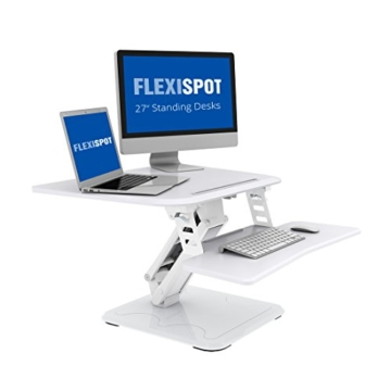 FLEXISPOT F3W Höhenverstellbarer Schreibtisch Sitz-Steh-Schreibtisch Steharbeitsplatz Computertisch Weiß - 1