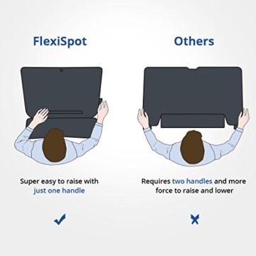 FLEXISPOT F3W Höhenverstellbarer Schreibtisch Sitz-Steh-Schreibtisch Steharbeitsplatz Computertisch Weiß - 5