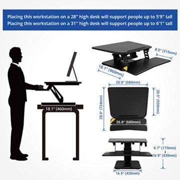 FLEXISPOT F3W Höhenverstellbarer Schreibtisch Sitz-Steh-Schreibtisch Steharbeitsplatz Computertisch Weiß - 6