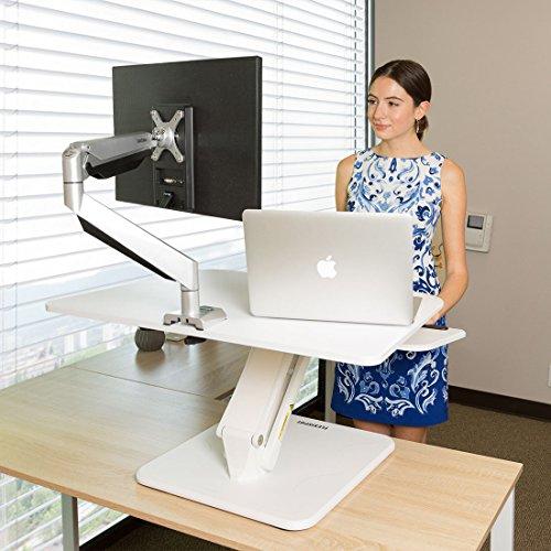 FLEXISPOT F3W Höhenverstellbarer Schreibtisch Sitz-Steh-Schreibtisch Steharbeitsplatz Computertisch Weiß - 7