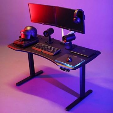 Flexispot Höhenverstellbarer Spieltisch Elektrisch höhenverstellbares Tischgestell, 3-Fach-Teleskop, passt für alle gängigen Tischplatten. Mit Memory-Steuerung und Softstart/-Stop - 2