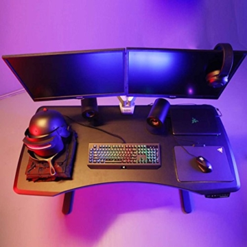 Flexispot Höhenverstellbarer Spieltisch Elektrisch höhenverstellbares Tischgestell, 3-Fach-Teleskop, passt für alle gängigen Tischplatten. Mit Memory-Steuerung und Softstart/-Stop - 3