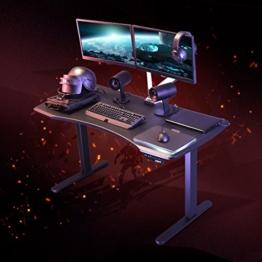 Flexispot Höhenverstellbarer Spieltisch Elektrisch höhenverstellbares Tischgestell, 3-Fach-Teleskop, passt für alle gängigen Tischplatten. Mit Memory-Steuerung und Softstart/-Stop - 1