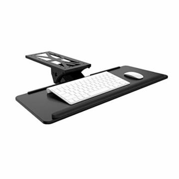 Flexispot KT1B Tastaturablage Tastaturschublade für Keyboard Neigbar, Metall, schwarz - 1