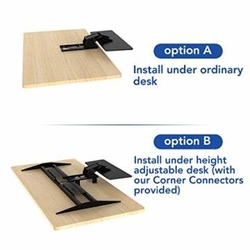 Flexispot KT1B Tastaturablage Tastaturschublade für Keyboard Neigbar, Metall, schwarz - 7