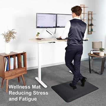 Flexispot MT1B Antimüdigkeits Komfortmatte Steh-Bodenmatte ergonomische Matte für Arbeitsplätze,Stehschreibtische, Küchen, Bad Anti-Ermüdungsschicht 100cm x 51cm x2cm - 6