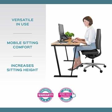 bonmedico Comfort Cushion, Ergonomisches Sitzkissen für besten Sitzkomfort, Stuhlkissen für Büro & Home Office aus innovativem Memory Foam, Sitzpolster universell einsetzbar - 3