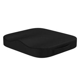 bonmedico Comfort Cushion, Ergonomisches Sitzkissen für besten Sitzkomfort, Stuhlkissen für Büro & Home Office aus innovativem Memory Foam, Sitzpolster universell einsetzbar - 1