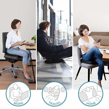 bonmedico Comfort Cushion, Ergonomisches Sitzkissen für besten Sitzkomfort, Stuhlkissen für Büro & Home Office aus innovativem Memory Foam, Sitzpolster universell einsetzbar - 4