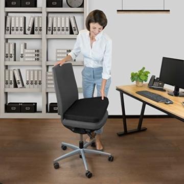 bonmedico Comfort Cushion, Ergonomisches Sitzkissen für besten Sitzkomfort, Stuhlkissen für Büro & Home Office aus innovativem Memory Foam, Sitzpolster universell einsetzbar - 6