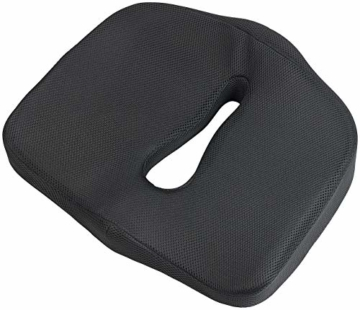 newgen medicals Autositzkissen: Ergonomisches Memory-Foam-Sitzkissen für Auto, Schreibtisch u.v.m. (Sitzpolster) - 4