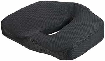newgen medicals Autositzkissen: Ergonomisches Memory-Foam-Sitzkissen für Auto, Schreibtisch u.v.m. (Sitzpolster) - 1