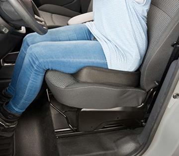 newgen medicals Autositzkissen: Ergonomisches Memory-Foam-Sitzkissen für Auto, Schreibtisch u.v.m. (Sitzpolster) - 7