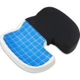 Proveon Gel-Sitzkissen – Steissbeinkissen aus Visco-Memory-Schaum - 1