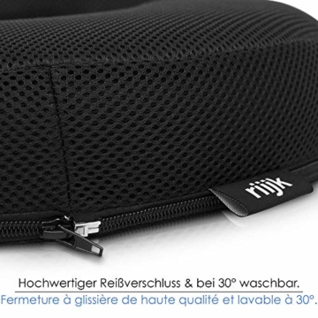riijk Gel Sitzkissen, Ringkissen mit kühlender Gelschicht: wohltuender Sitzring, Sitzerhöhung aus Spezialschaum - 4