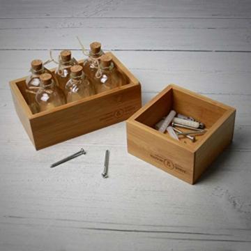 5-teiliger Bambus-Schubladen-Organizer | Set von 5 dauerhaften Holz Aufbewahrungsboxen | Verschiedene Größen | Vielseitig und konfigurierbar |M&W - 2