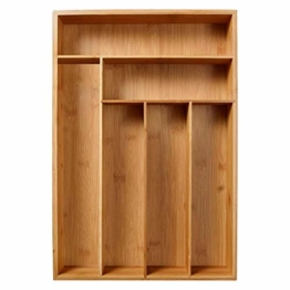 Corwar Bambus Schublade Organizer Holz Utensil Besteck Küche Schublade Box Halter realistic - 1