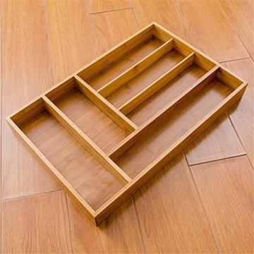 Corwar Bambus Schublade Organizer Holz Utensil Besteck Küche Schublade Box Halter realistic - 7
