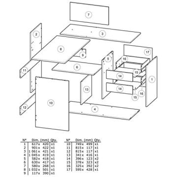 habeig Eck-Schreibtisch #204 Shannon Eiche Honig- Schreibtisch PC-Tisch Eckschreibtisch - 3