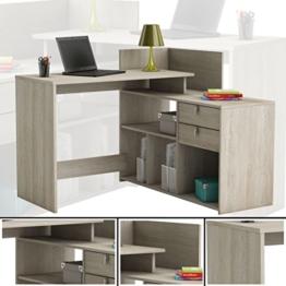 habeig Eck-Schreibtisch #204 Shannon Eiche Honig- Schreibtisch PC-Tisch Eckschreibtisch - 1