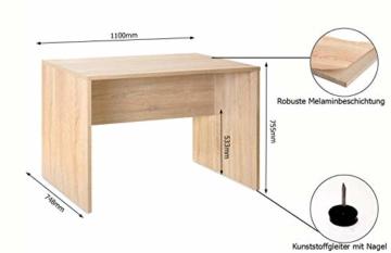 mutatio Gaming Tisch - Erweiterbar - genügend Platz für Zwei Arbeitsplätze - Ecke - Winkelkombination - Eckschreibtisch, Schreibtisch - Sonoma-Eiche ca.: B 185/185 x H 75,5 x T 75 cm - 2
