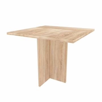 mutatio Gaming Tisch - Erweiterbar - genügend Platz für Zwei Arbeitsplätze - Ecke - Winkelkombination - Eckschreibtisch, Schreibtisch - Sonoma-Eiche ca.: B 185/185 x H 75,5 x T 75 cm - 3