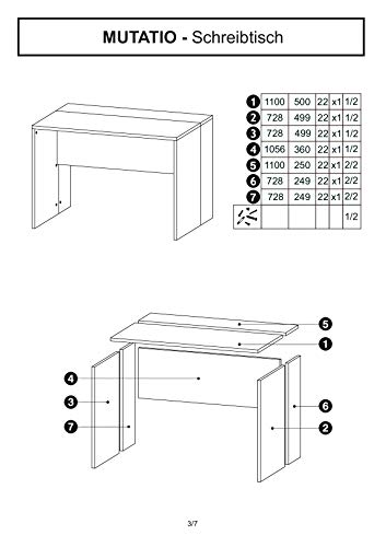 mutatio Gaming Tisch - Erweiterbar - genügend Platz für Zwei Arbeitsplätze - Ecke - Winkelkombination - Eckschreibtisch, Schreibtisch - Sonoma-Eiche ca.: B 185/185 x H 75,5 x T 75 cm - 6
