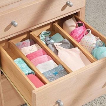 Wooden-Life Schubladen Organizer, Schubladentrenner, Schubladenteiler, Die 4er-Set Bambus Schubladentrenner geeignet für Küche, Kommode, Schlafzimmer, Baby Schublade, Bad, Schreibtisch - 3