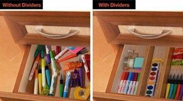 Wooden-Life Schubladen Organizer, Schubladentrenner, Schubladenteiler, Die 4er-Set Bambus Schubladentrenner geeignet für Küche, Kommode, Schlafzimmer, Baby Schublade, Bad, Schreibtisch - 7